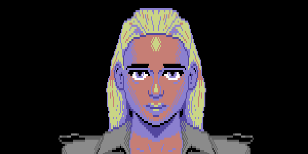 A woman using C64 restrictions