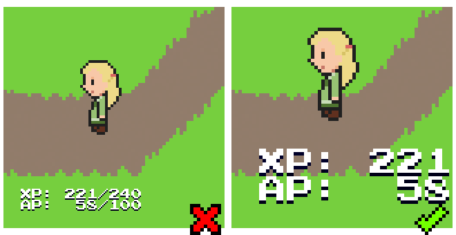 A comparison of inconsistent pixel sizes and correct consistency